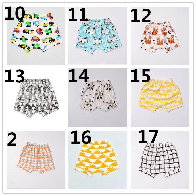 DHL INS Boys Harem Pants 2016 Summer Geometric Animal Print Baby Boy PP Pants Girls Shorts Pants Brand Kids Baby Clothing K7134