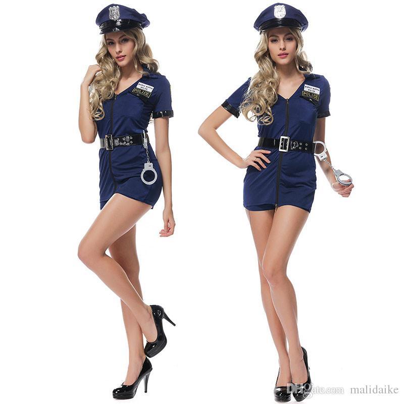 Acquista Maledizione Anime Cop Poliziotti Uniformi Tentazione Costumi Di  Halloween Cosplay Party Performance Sul Palco Abiti Sexy Taglia Unica A   32.48 Dal ... 29b66216ff1e