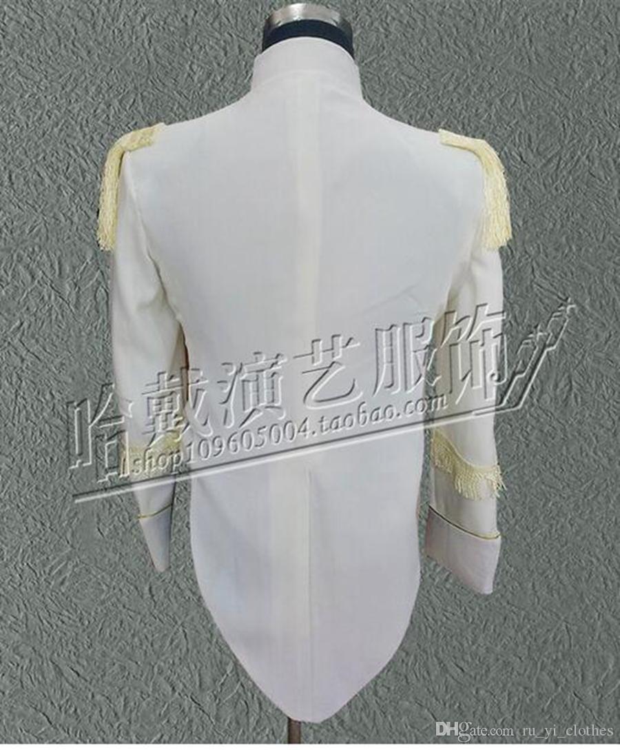 Han edition nightclub singer man street new fashion costumes performing arts star stage performance clothing bar coat.S - 4 xl