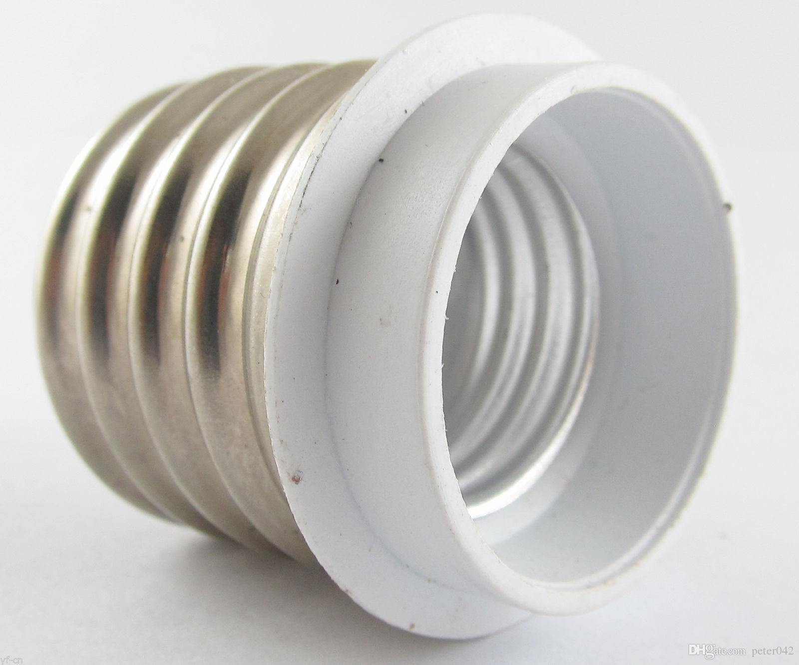 E40 Male to E27 Female Socket Base LED Halogen CFL Light Bulb Lamp Adapter