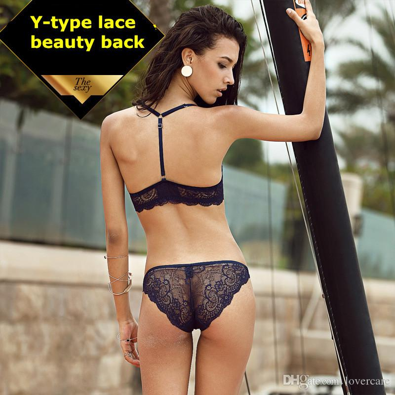 23c57107b916b 2019 Front Buckle Beauty Back Sexy Lace Bra Sets Gather Girls Europe And  America Ms. Seamless Underwear 12 Size From Lovercare
