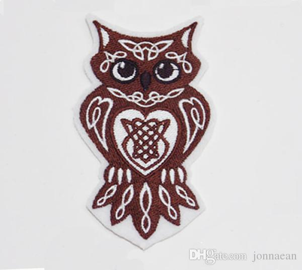 Celtic Art Iron-on Embroidered Sew-On Wild Celtic Creature Patch Celtic Knotwork Owl Patch