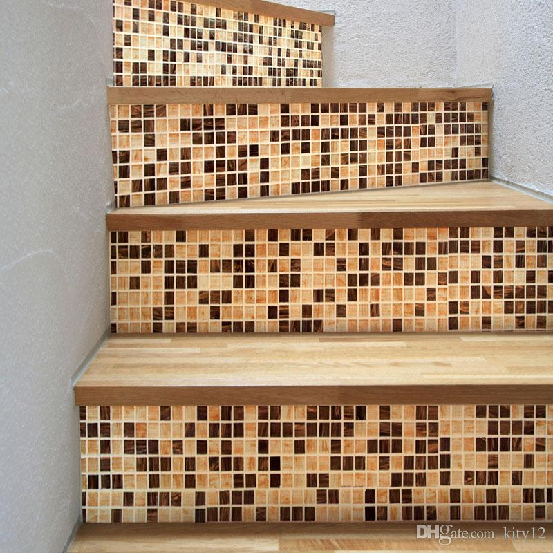 3D Self-adhesive Stairway Stickers DIY for Room Stairs Decoration Home Floor Wall Sticker