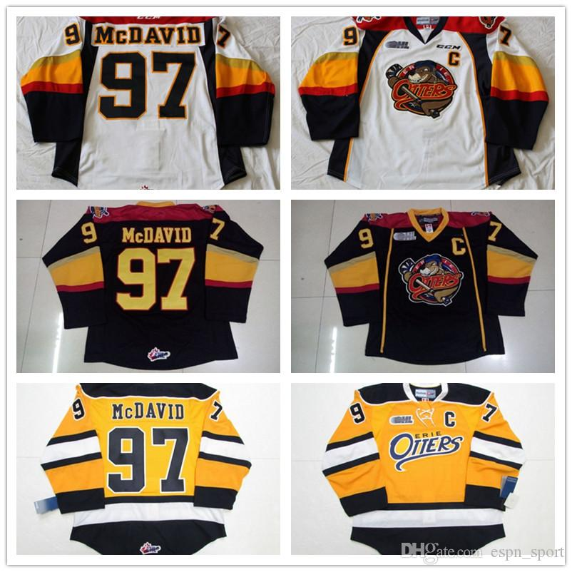f802bb51bc8 Custom Mens OHL Erie Otters 97 Connor McDavid Top Quality Ice Hockey ...