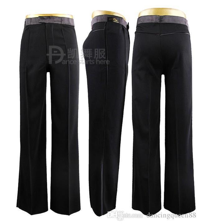 2018 nueva llegada hombre / niño pantalones de baile latino para danza pantalones de baile de salón para hombre pantalones latinos para hombre ropa de baile
