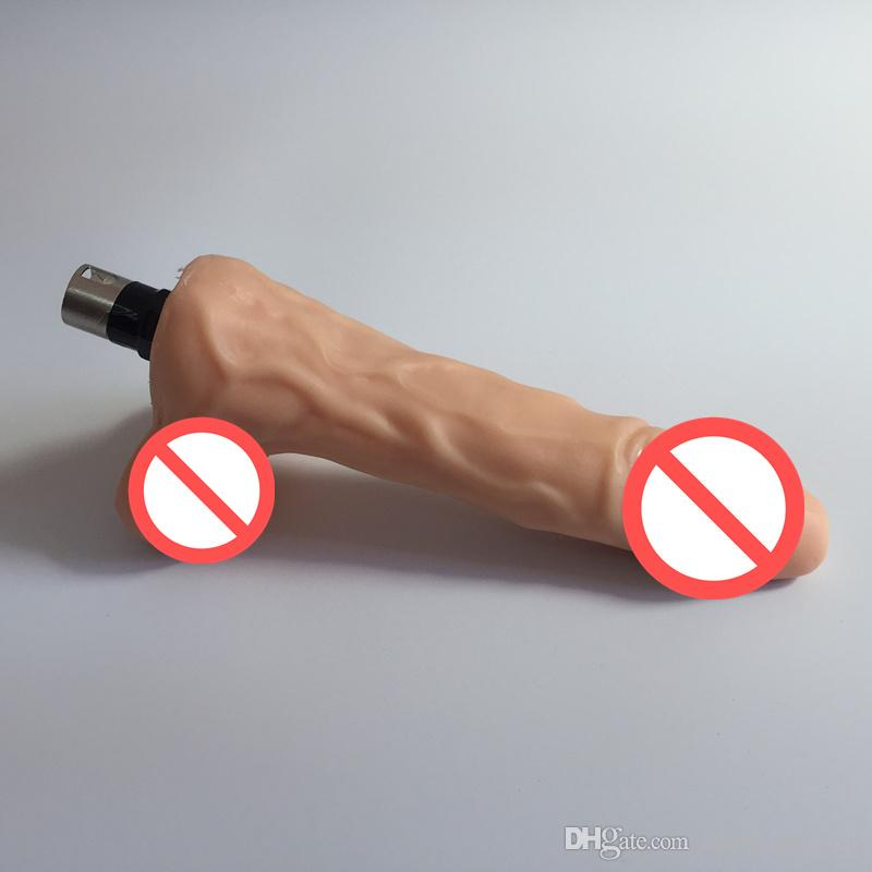 Newest Sex Machine Accessories Realistic Fake Dildo with Testis Sex Machines Attachment Soft Penis Female Masturbation Sex Products