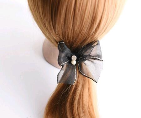 Freies Verschiffen / lotl mischen Farben Haarzusätze Haar-Gummibänder für Haar-Schmucksache-Geschenk HJ007