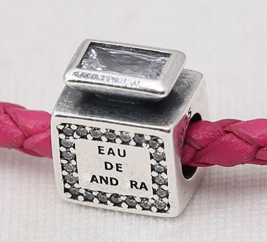2016 encantos del día de la madre 925 cuentas de plata esterlina con cz encanto de aroma de la firma se adapta para pulseras Pandora auténtica joyería de DIY al por mayor