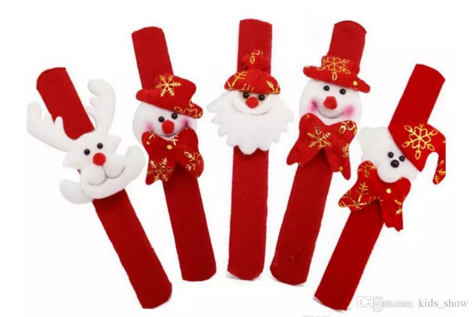 Christmas Patting Circle Phnom Penh Bracelet Watch Xmas Children Gift Santa Claus Snowman Deer New Year Party Toy Wrist Decoration