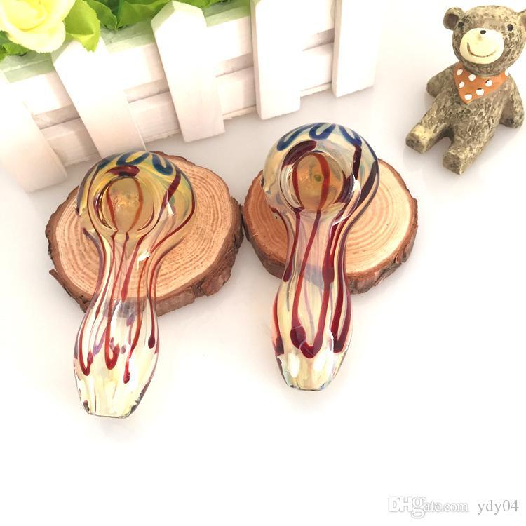 Tubi di vetro Beatuful Aspetto Beatuful Tabacco Herb Mini tubo di vetro Tubi a mano Best Spoon Mix Color Oil Rigs Bongs Bubblers