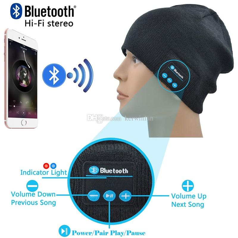 Bluetooth Headset Wireless Bluetooth Hat Music Beanie Hat with Stereo Speaker Headphones Micro Phone Hands Free to Receive Calls Music