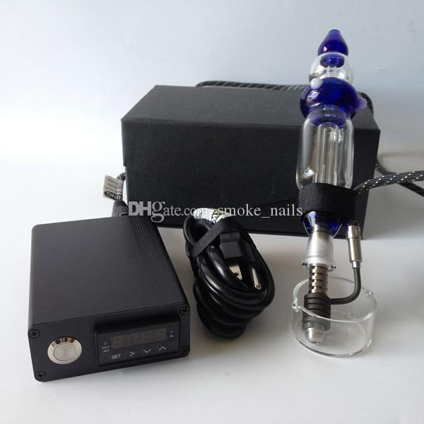 Very perfect Nectar Collector E Digital Nail Kit with Coil Heater for Wax and Oil Temp Control Function oil Vaporizer DHL free