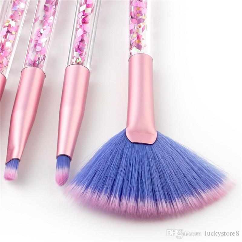 Meerjungfrau Serie Make-up Pinsel Set Quicksand Kristall Kosmetik Pinsel Powder Lidschatten Foundation bilden Werkzeug DHL-freies Verschiffen