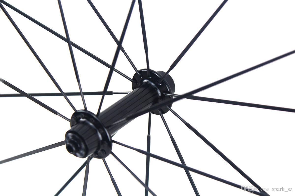سوبر ضوء ألياف الكربون دراجة عجلات 30 ملليمتر البازلت سطح الفرامل الفاصلة أنبوبي الطريق الدراجات دراجة العجلات مع powerway r13 محاور