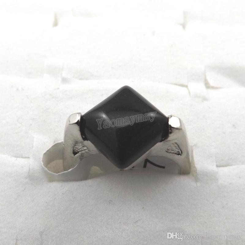 믹스 로트 천연석 반지 여성용 반지 패션 쥬얼리 바그 무료 배송