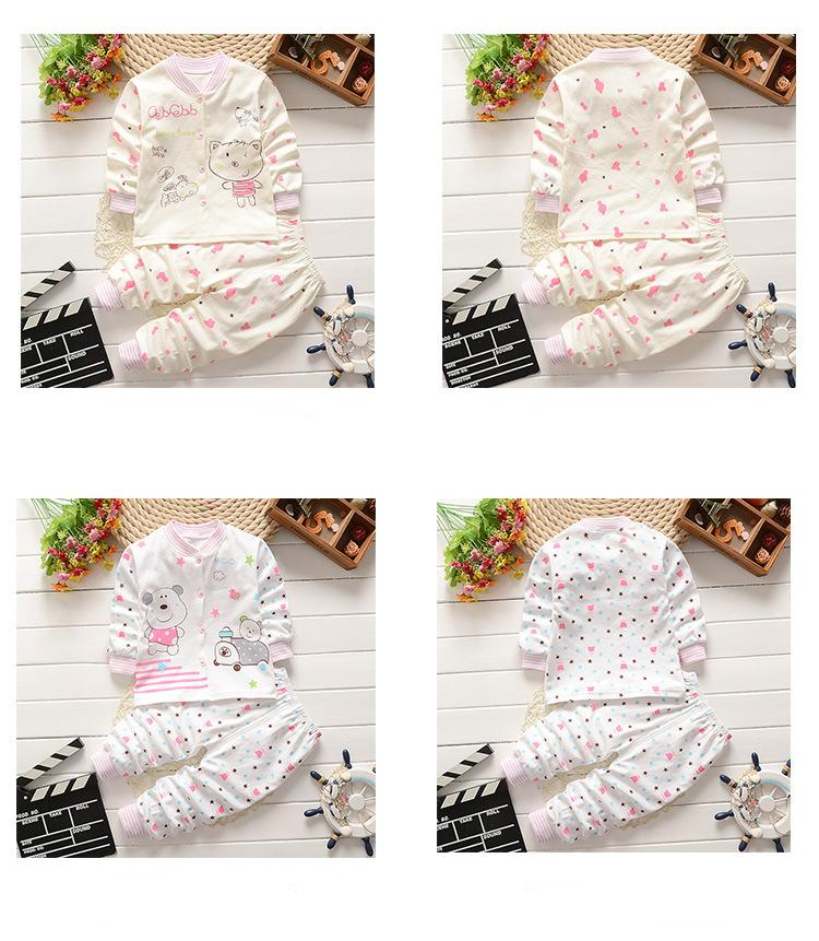 849d92d93a9 Baby Clothing Sets Spring Autumn Children Underwear Pajamas Suit ...