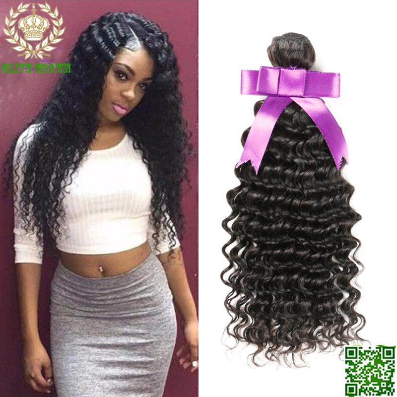 Brazilian Virgin Hair Deep Curly Hair Weaves 3BundlesHuman Hair Extension Virgin Hair Weft Grade 6A Remy Hair Bundles