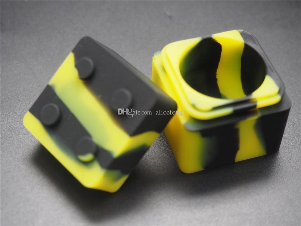 100X New Chegou Frascos De Silicone Dab Wax Vaporizador de Óleo Container Não Vara Grande Cera