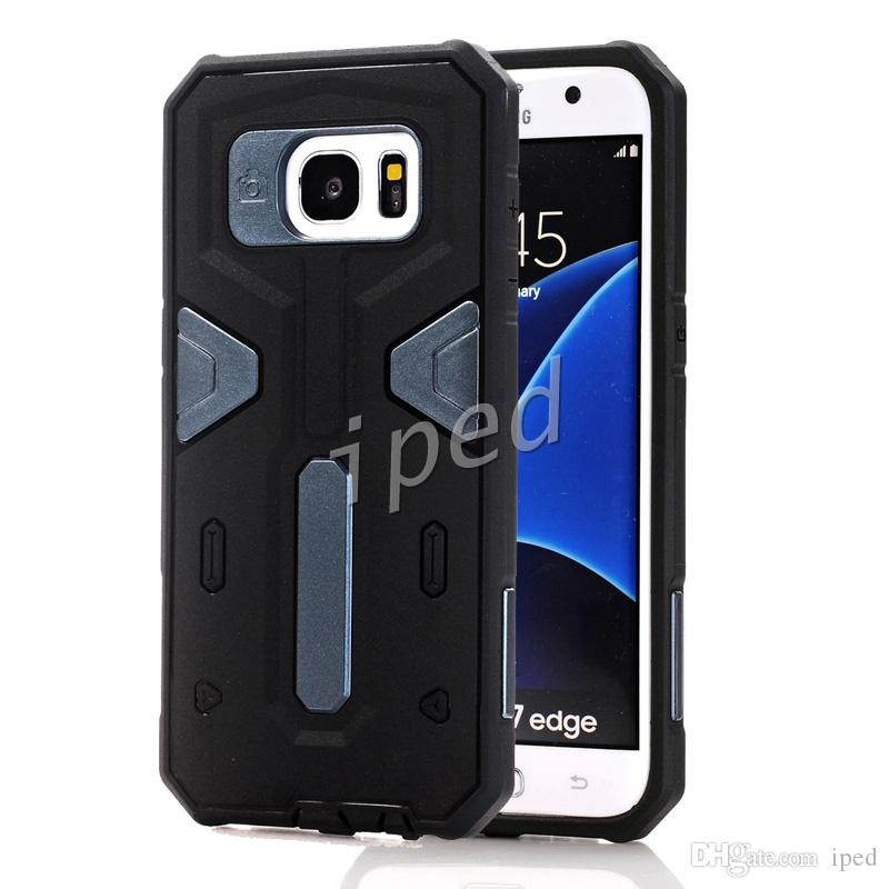 Cheapest hot Warrior Heavy Duty Armor Hybrid 2 in 1 TPU PC Shockproof Hard Back Cover Case for iPhone 6 6s Samsung S6 S7 LG Rugged Iron Man