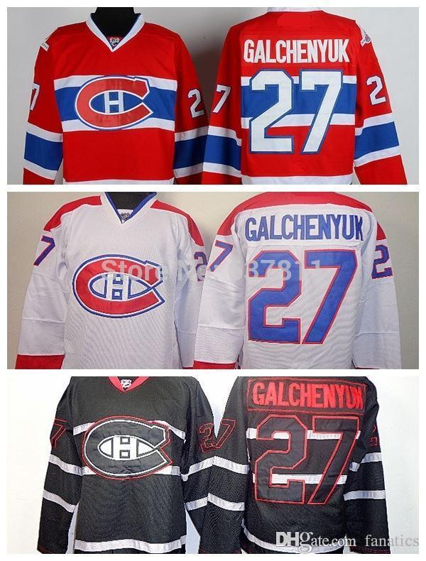 official photos d6f78 95875 2013 Men's Hockey Jerseys Montreal Canadiens #27 Alex Galchenyuk Jersey Red  Home Team Color Authentic Stitched Jersey CH logo
