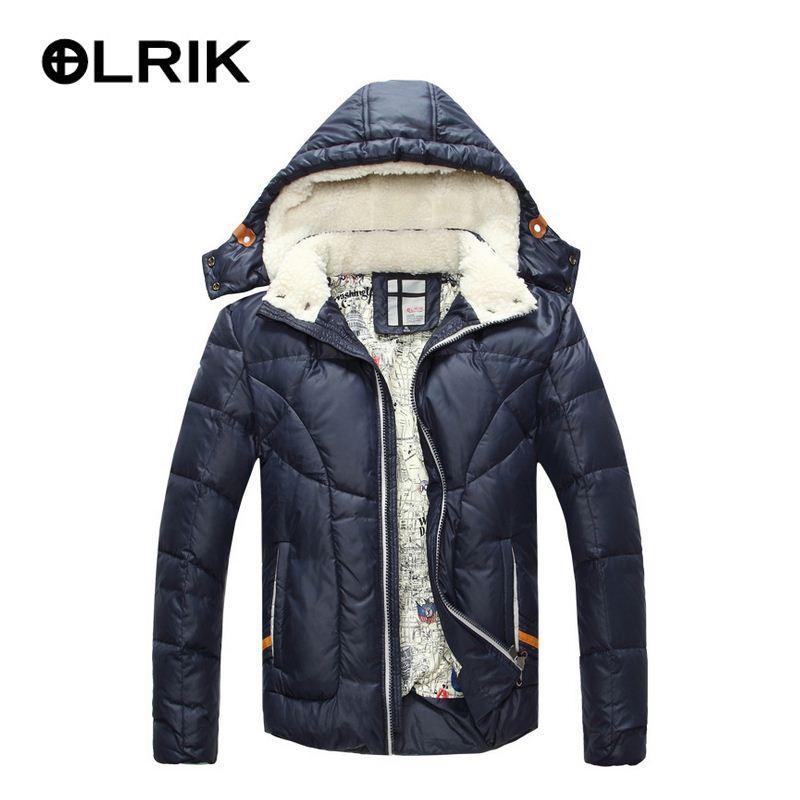 Olrik 2016 Men Winter Down Jacket Coats Short Thick Overcoats ...
