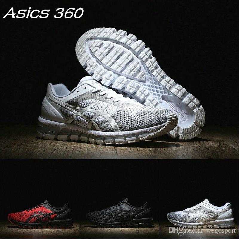 92886c74f Compre 2019 Asics Gel Quantum 360 Malha T728N 9099 2690 Amortecimento  Running Shoes Tece Vamp Original Das Mulheres Dos Homens Sapatilhas Sapatos  De Grife ...