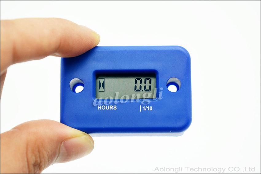 Digital Hour Meter Gauge LCD for Gasoline Engine Racing Motorcycle ATV Mower Snowmobile motorbike Tachometer Waterproof Hours Meter