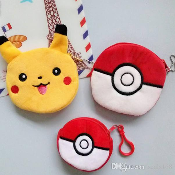 New Pikachu Ball Eevee Plush Key Rings Cartoon Game Figure Pendant Car Handbag Mobile Cell Phone Keychain Stuffed Toys Gifts HH-P01
