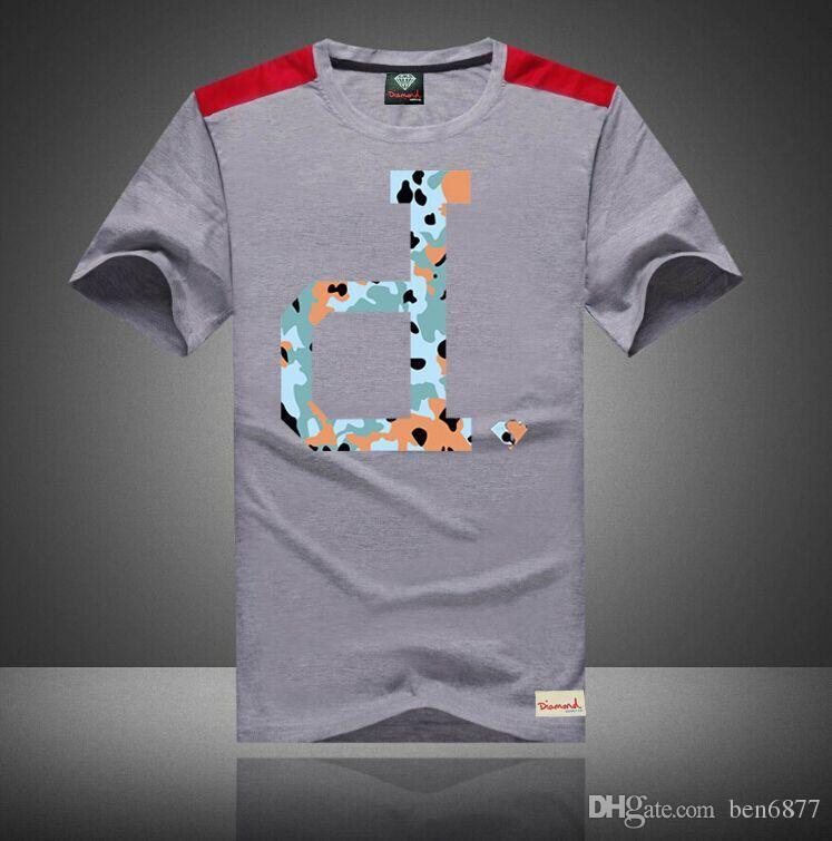 uomini liberi di trasporto s-5xl Magliette traspiranti casuali Mens freddo diamante fornitura O Collo Mans T-Shirt Top