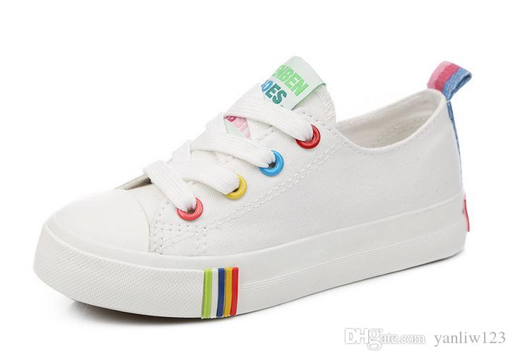 20008 Children shoes child canvas boy child white sneakers child single shoes casual girl shoes European shoe size:25-36