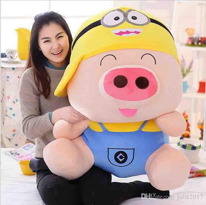 Cartoon Mcdull pig plush toy turned to relaxed bear, minion,totoro soft throw pillow toy birthday gift