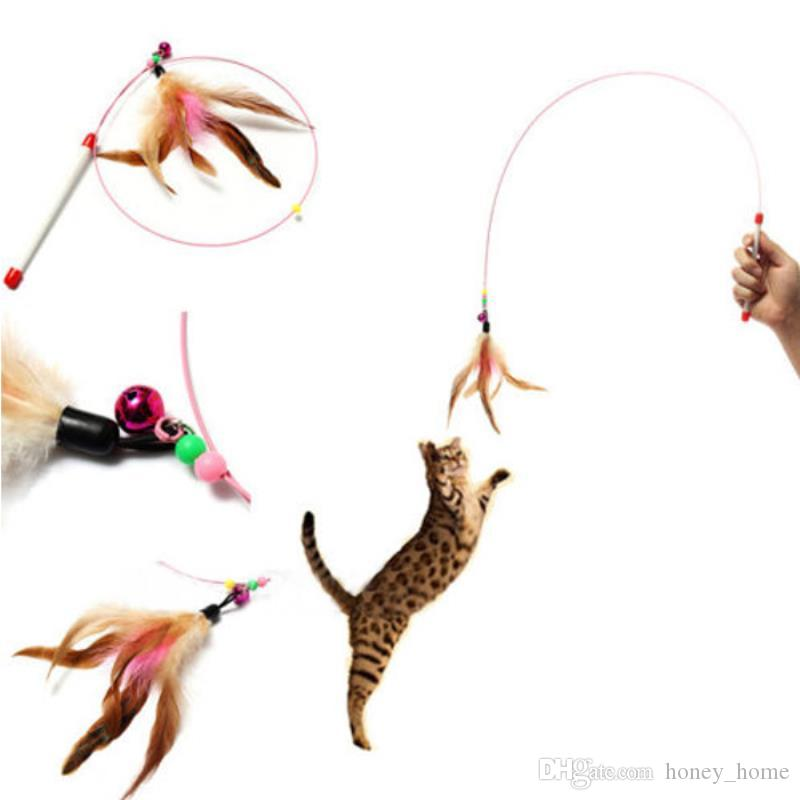Lovely Love Heart Shape Cat Toys Cute Funny Colorful Rod Teaser Wand Plastic Pet Toys For Cats Interactive Stick Cat Elegant And Sturdy Package Cat Toys Pet Products