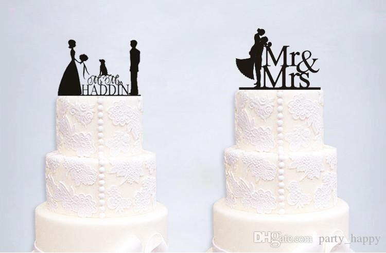 Wedding Party Cake Acrylic Topper High-End Double Sugar Cake Wedding Card Romantic Wedding Cake Birthday Cake Decoration