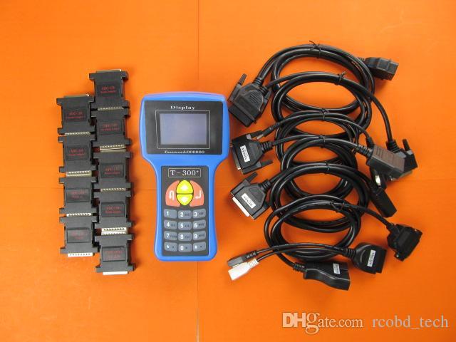 Anahtar Programcı Aracı Yeni Sürüm T300 T-300 OBD2 Oto Transponder İngilizce İspanyolca İsteğe Bağlı Tam Kablolar T-Kod Maker