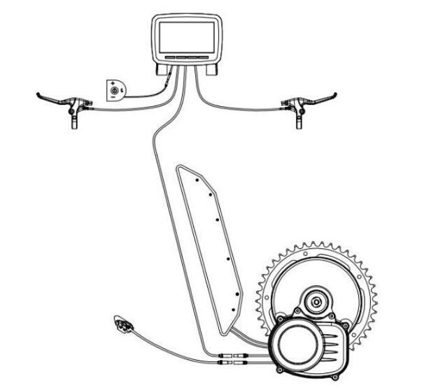 Nouvelle version Capteur de couple 36V 350W 42T à la chaîne de chaîne Vélo électrique TSDZ2 Mid Central Motor Conversion Kit