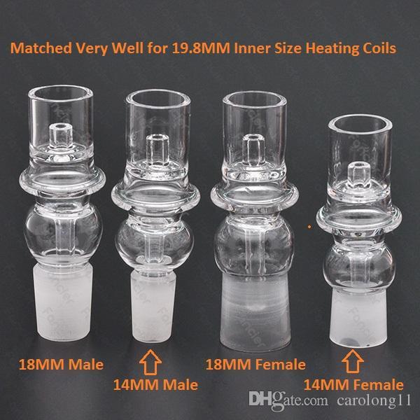 2016 кварц ногтей 14мм 18мм женский мужской в ассортименте подходят для 19,8 мм 20мм нагреватель нагревательный для Эл. пакет промокните ногти коробка