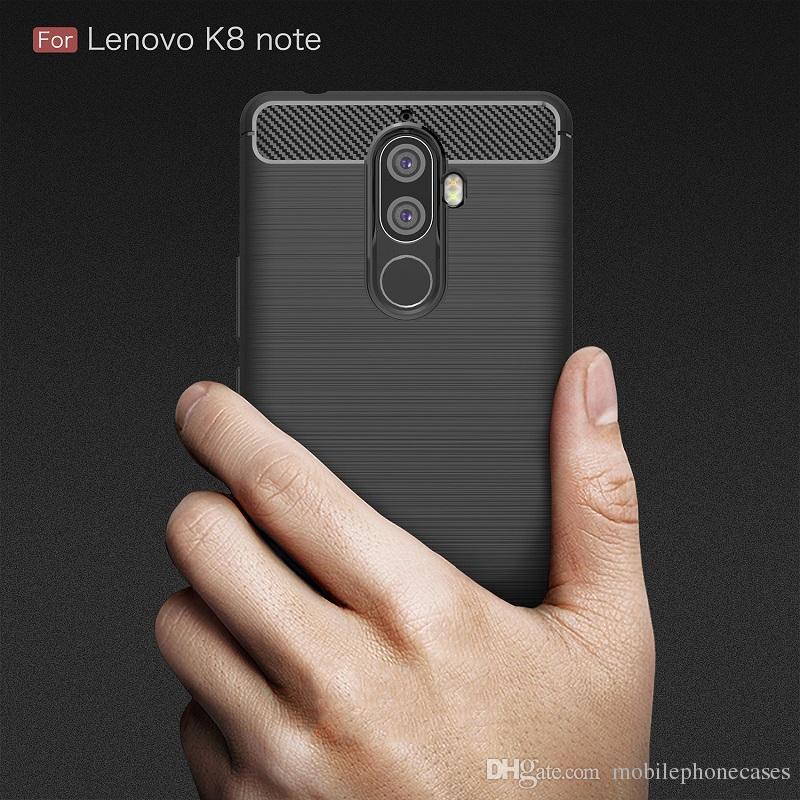 Casos de fibra de carbono para lenovo k8 nota heavy duty à prova de choque armadura case para lenovo k8 nota capa 2017 venda quente