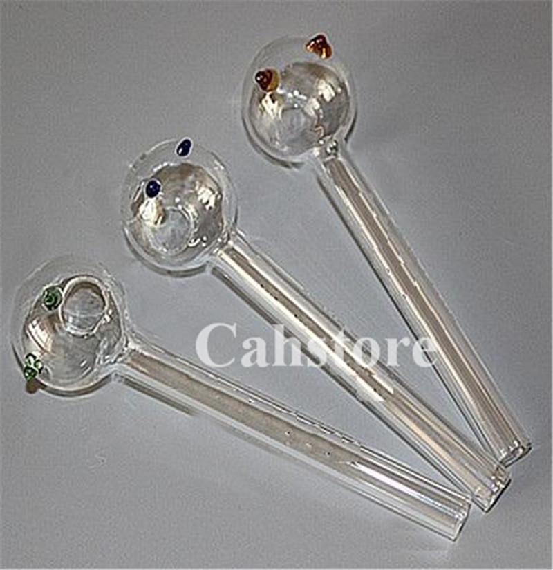 tubo quemador de aceite aplanadora vidrio pyrex clara 12cm barato vidrio recta recta aceite de pipa de vidrio embriagadora fumar en pipa tazón