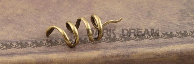 Alta Qualidade Do Vintage Mulheres Bronze Cobra Envoltório Clipe Brincos Moda Ear Cuff Jóias Presente