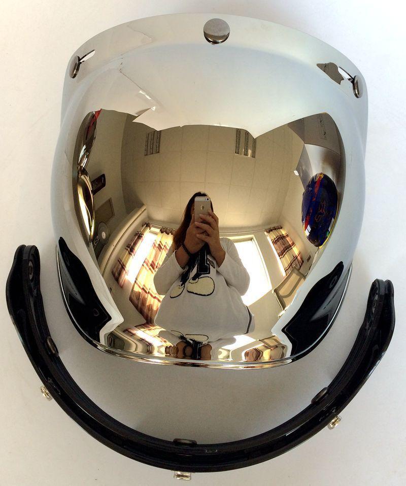 Motorrad Windschutzscheibe Helm Vintage Style Helme 3 Snaps Jet Helm für Harley Style Helm Bubble Visor UV 400 Schutz