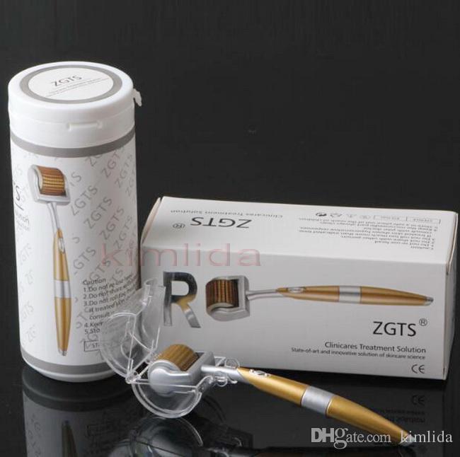 100 unids / lote 192 agujas Titanium ZGTS derma rodillo de la piel rodillo de belleza rodillo Microneedle Roller Factory meso derma sello sistema de laminación