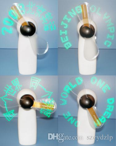 Mensagem a pilhas Piscando Mini Ventilador Led Ventilador Led, led acende mini ventilador presente para vendas por atacado verde ..