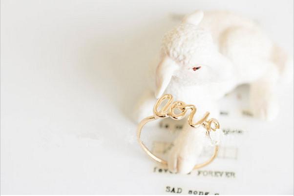 Yeni gelgit moda aşk romantik altın kaplama gümüş kaplama gül altın yüzük toptan satış yüksek kalite yüzük