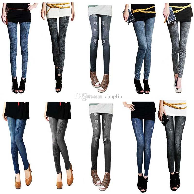 e43a998c995 7 Style Casual Denim Women Lady Elastic Jeans Skinny Jeggings Sexy ...