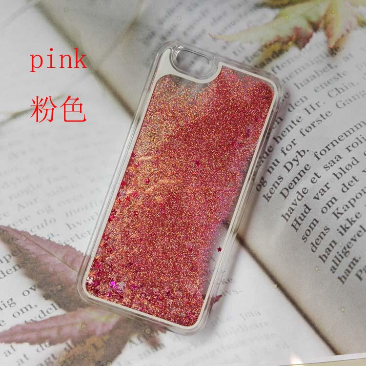 2016 Case Cover For Iphone 5 6 6s plus 7 7plus Samsung S6 S7 S7 edge New type Multicolor Glitter Star Dynamic Liquid Quicksand Clear Hard