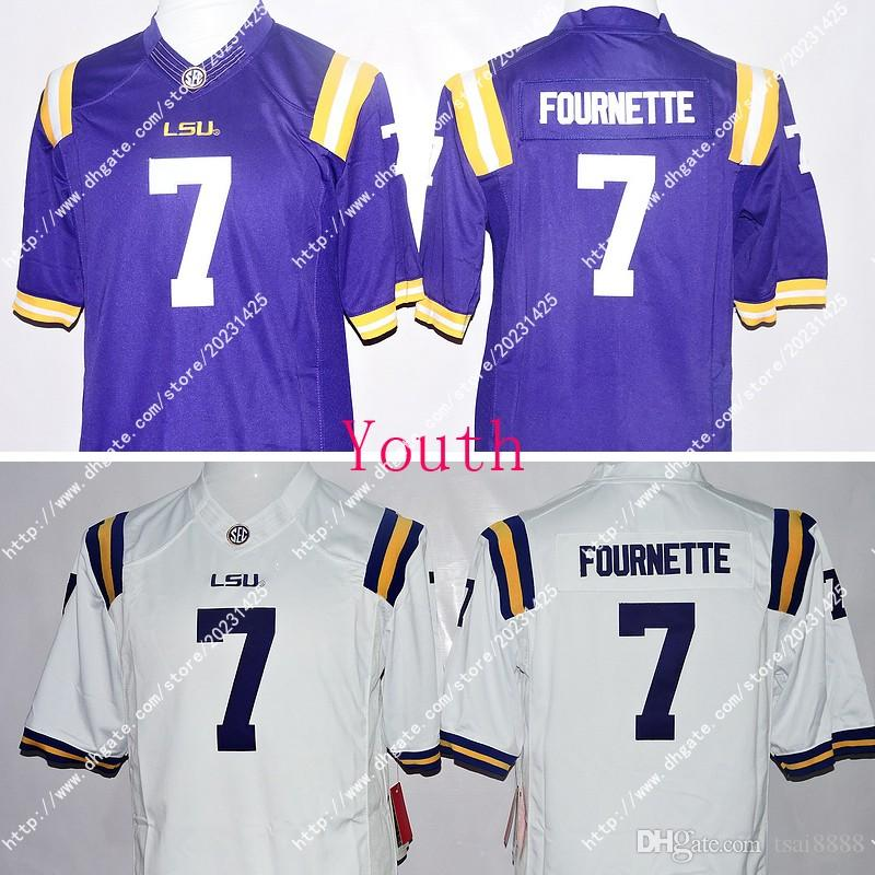 lowest price 61488 c01e1 Newest Wholesale NWT LSU Tigers 3 Odell Beckham JR. 7 Leonard Fournette  Kids/Youth Limited Jersey Embroidery Logos Stitched Jerseys Uniforms