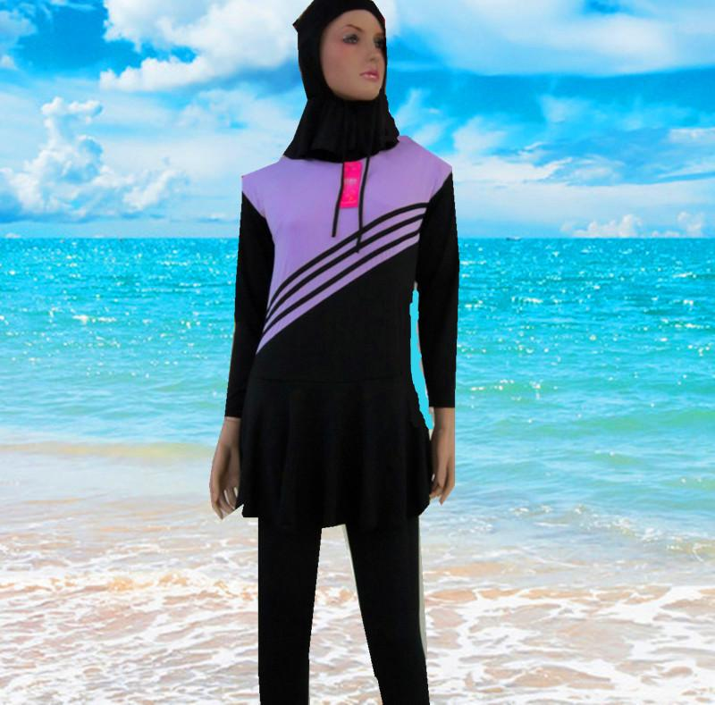 befd105b627 2019 Cheap Islamic Swimwear Muslim Swimwear 2016 Hot Islamic Swimsuit For  Women Full Coverage Swimwear Clothes Hijab Swimming Suit Plus Size L 3X  From ...