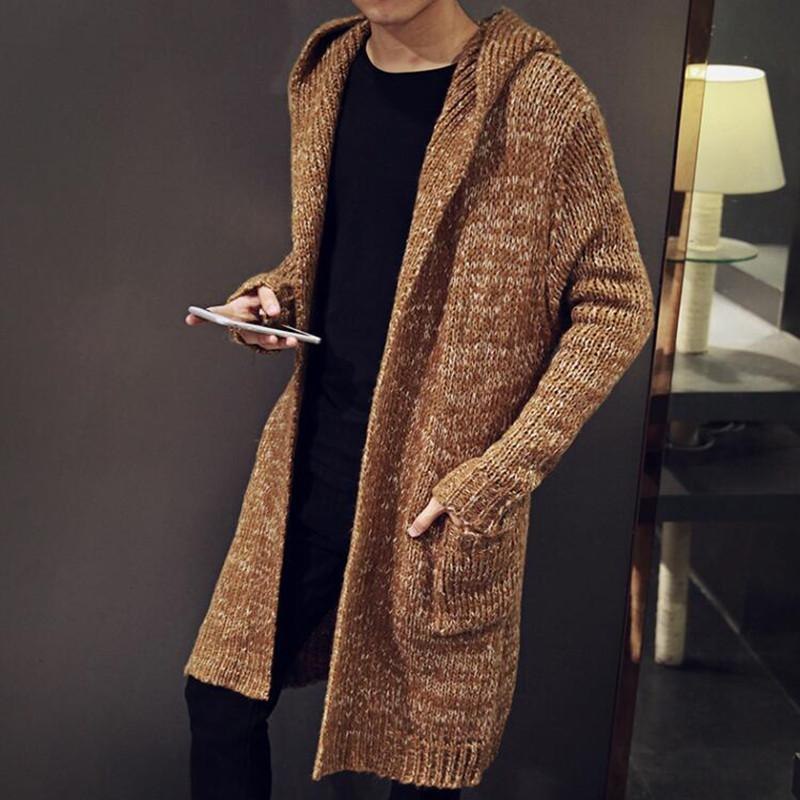 7d54b0ee0f6a 2019 Hot Autumn Winter Loose Long Mens Cardigans Sweaters New ...