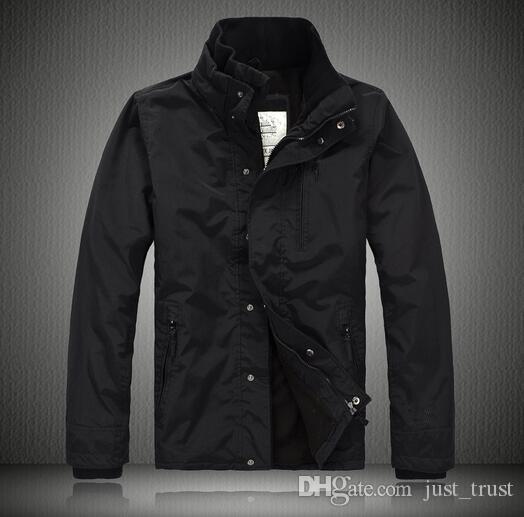 Top vente Hommes coupe-vent Vestes Navy Noir polaire imperméable à l'eau à capuche en plein air hommes Manteaux Manteaux Trench d'hiver pour hommes