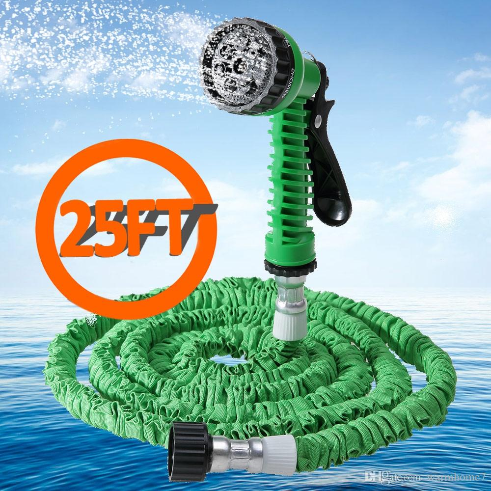 Garden Hose Water Pipe Popular 25FT Expandable Garden Hose Retractable Water Hoses Retractable Hose Plastic Pipe Car Watering +NB